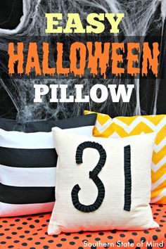 "10-Minute Super Simple ""31"" Halloween Pillow"