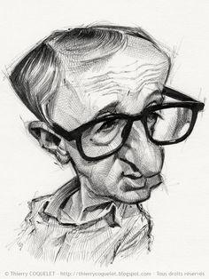 Thierry Coquelet - Dessinateur Caricaturiste - Woody Allen