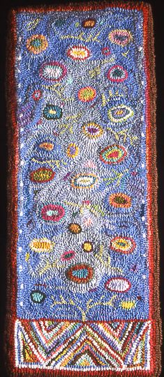 beautiful hooked rug