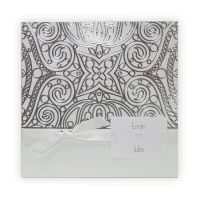 BestofCards J3117 Original and well-balanced, the J3117 wedding invitation is an ideal choice for couples looking for a bit of Oriental charm! The outer pocket is made of glazed, white paper, decorated with a silver print on the upper part of the card. Your wording will be printed on the white insert with discrete light grey design and small enclosure card to the left.