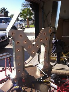 Our DIY Light-Up Marquee Letter