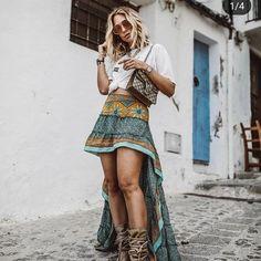 "Boho Wardrobe on Instagram: ""Boho clothes shop link in bio @boho.wardrobe ❤️ #bohovibes #hippieclothing #bohoinspiration #hippiedress #bohofashion #bohemian…"" Hippie Dresses, Hippie Outfits, Dress Skirt, Dress Up, Boho Chic, Bohemian, Boho Inspiration, Ibiza Fashion, How To Wear"