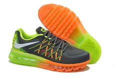 Nike Air Max 2015 Men's Running Shoe Black Orange Green