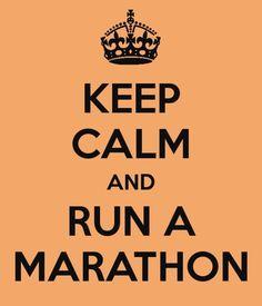 To run a marathon