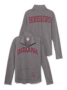 Indiana University Raw Half-zip Pullover