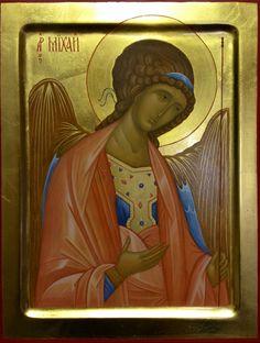 Archangel Michael Byzantine Icons, Byzantine Art, Roman Church, Archangel Michael, John The Baptist, Art Icon, Gold Work, Orthodox Icons, St Michael