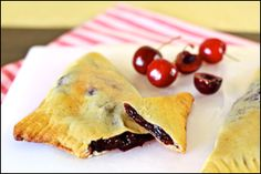 Hungry Girl recipe for guilt-free cherry turnovers. Pin and set the oven!