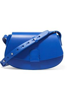 08d66a053c Bright-blue leather Snap-fastening front flap Comes with dust bag Weighs  approximately Made in Italy