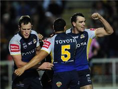 North Queensland Cowboys will be looking to boost their chances of securing a top four finish in the NRL when they host Canberra Raiders on Saturday. Nrl Live, Brisbane Broncos, Australian Football, Rugby League, My Boys, Cheerleading, Dairy Farmers, Soccer, Futbol
