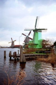 Zaanse Schans Windmill Park near Amsterdam in The Netherlands