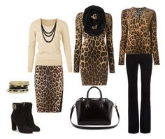 leopard.kombinace by j-liebichova on Polyvore featuring Dolce&Gabbana, Alexander McQueen, Altuzarra, Salvatore Ferragamo, Givenchy, GUESS, Bling Jewelry and Old Navy