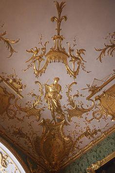 Gold stucco   Green Gallery. Residenz, Munich
