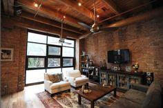 old loft living room