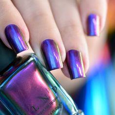 Purple Nail Designs, Simple Nail Art Designs, Easy Nail Art, Coffin Nails Ombre, Gel Nails, Acrylic Nails, Nail Polishes, Marble Nails, Chrome Nail Polish