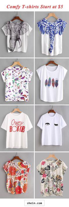 Comfy T-shirts start at $5!