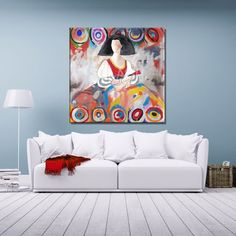 Menina Moderna Abstracto Kandinsky SPA1140 Kandinsky, Abstract Faces, Abstract Art, Easy Canvas Painting, Klimt, Paint Brushes, Gouache, Contemporary Art, Mandala