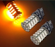 Led #Maximum 2pcs Amber Yellow 57-SMD 3156 LED Bulbs for Turn Signal / Parking Lights #57A