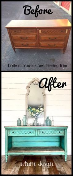 Old dresser makeover By uturn design