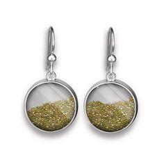 Large Diamond Dust French Wire Earrings