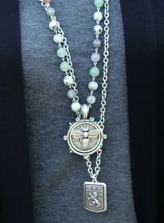 French Kande vintage French medallion necklaces