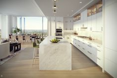Opus Place website launches, offering comprehensive look inside Atlanta's most expensive address - Curbed Atlanta Dream Apartment, Apartment Kitchen, Apartment Design, Luxury Home Decor, Luxury Homes, New York Penthouse, Luxury Penthouse, Kitchen New York, Apartment Makeover