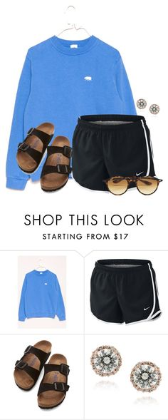 """""""Another Algebra test..."""" by flroasburn on Polyvore featuring NIKE, Birkenstock, Icz Stonez and Ray-Ban"""