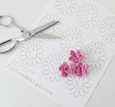 Spiral Mumzie Flower - Printable PDF Pattern