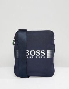 BOSS Pixel Flight Bag in Navy