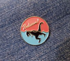 Hey, I found this really awesome Etsy listing at https://www.etsy.com/listing/399753615/believe-loch-ness-rex-enamel-pin