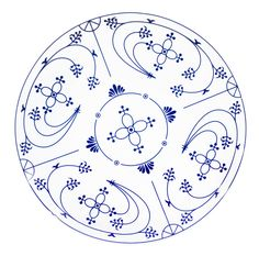 White Embroidery, Embroidery Stitches, Embroidery Patterns, Hand Embroidery, Blue Pottery, Royal Copenhagen, Cross Paintings, China Painting, Danish Design