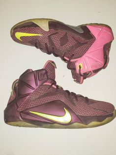 best service 5fd45 88889 Lebron XII 12 Merlot Kids Size 5Y  fashion  clothing  shoes  accessories