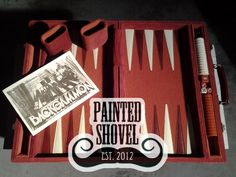 Vintage backgammon game travel set for sale at Painted Shovel in Avondale, AL.