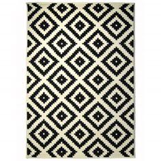 Dywan Aztec - czarno-biały - różne rozmiary