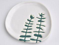 Flower design plate
