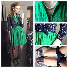 Sometimes I think I was meant to live in the 50s/60s///Dress and shoes are thrifted. Click pic for brands