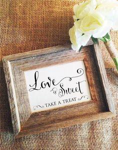 Hey, I found this really awesome Etsy listing at https://www.etsy.com/listing/206714623/love-is-sweet-sign-love-is-sweet-take-a