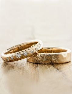 Custom Fingerprint Wedding Bands by Ken & Dana Design - Lili & Lito                                                                                                                                                                                 More