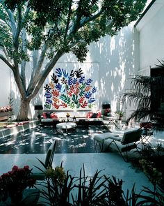 Outdoor Room, Frances Brody House, Los Angeles, California