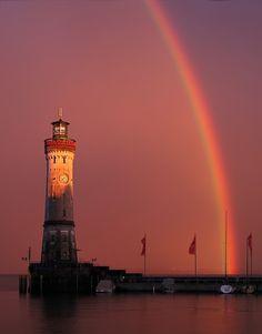 Rainbow over Lighthouse