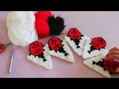 Figürlü lif /ugur böcekli lif - YouTube Make It Yourself, Youtube, Rugs, Mantas Crochet, Youtube Movies