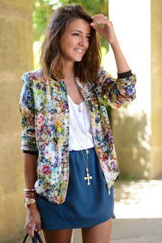 Floral blazer. #FlowerShop