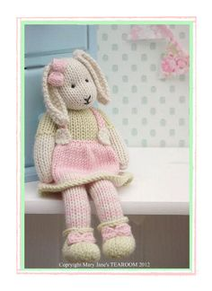 LILY.... A Spring Baby Bunny  / PDF Toy  Knitting Pattern/ DIGITAL Instant Download