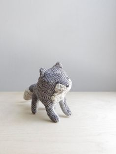 shadow fox / soft sculpture animal by ohalbatross on Etsy, $68.00