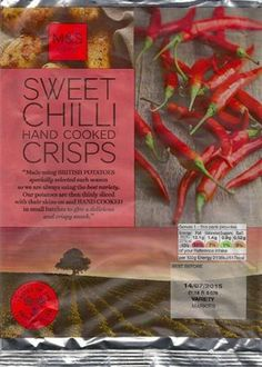 Marks & Spencer - Sweet Chilli Hand Cooked Crisps