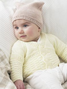 Design from The Baby Cotton DK Hand Knit Book (446) features 20 adorable hand knits in Snuggly Baby Cotton DK for babies and toddlers from premature to 3 years | English Yarns