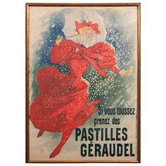 """""""Pastilles Geraudel,"""" Poster by French Artist Jules Chéret 