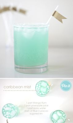"This could be cute for a signature cocktail.. it is our color.. I would call it ""Something Blue"""
