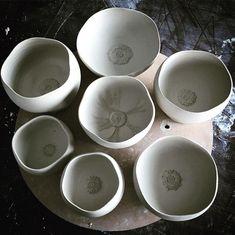 New poppies #waitingforspring #poppyfield #porcelain #bowl #tallfoot #ceramics#pottery
