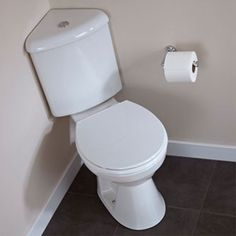 """Prestige Uranus Close Coupled Toilet WC Dual Flush Corner Cistern - Soft Close Seat £73.25. Projection 27.17"""". Not sure if available in US."""