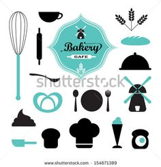 Bakery icon set vector Copyright @ DeSpace Studio